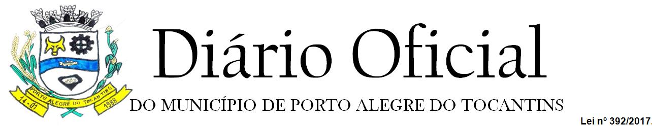 Diário Oficial Porto Alegre do Tocantins